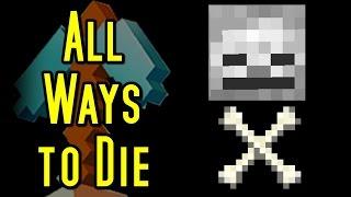 Minecraft ALL WAYS TO DIE!