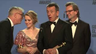 Golden Globes 2017 The Crown Backstage Interview
