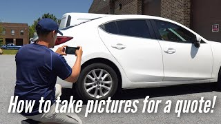 How to take photos for a Paintless Dent Repair Estimate | Dentless Touch
