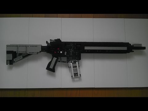 レゴの銃の作り方@Giraffe Heavy Factory:LG27 How to make my rego rifle
