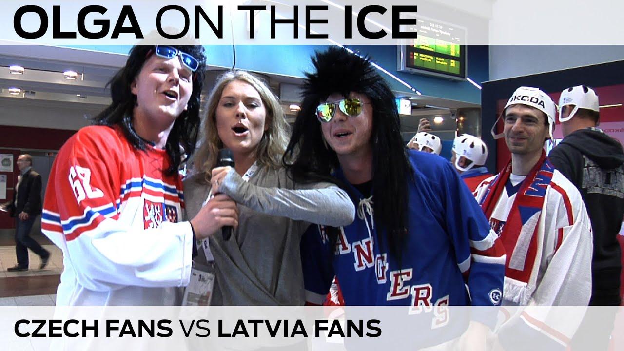 Olga winning the hearts of the Latvian and Czech fans | #IIHFWorlds 2015