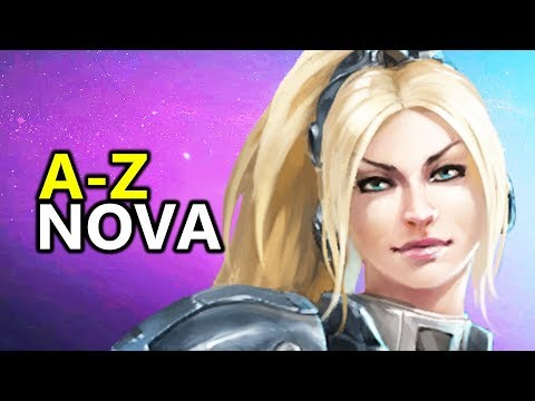 ♥ A - Z Nova - Heroes of the Storm (HotS Gameplay)