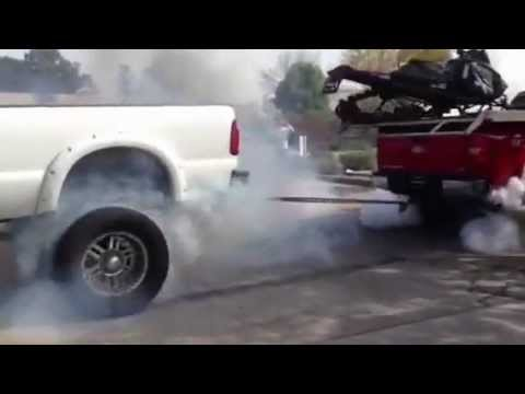 Tug of War Sick Lifted Ford Powerstroke vs Lifted Chevy ...