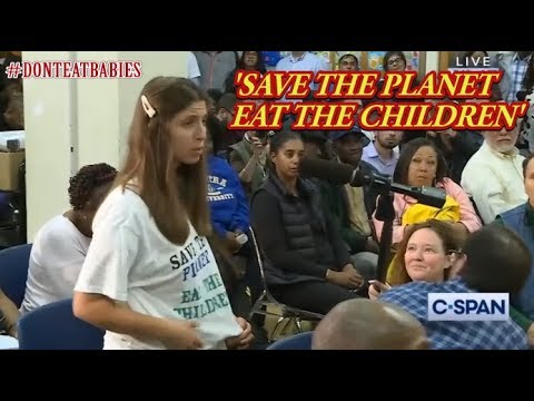 'SAVE THE PLANET, EAT THE CHILDREN'  CLIMATE MADNESS @Ocasio-Cortez Townhall