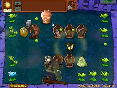 Plants Vs. Zombies - VaseBreaker Endless 33 Streak