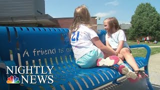 Thousands Of 'Buddy Benches' Help Thousands Of Lonely Kids Find Friends | NBC Nightly News