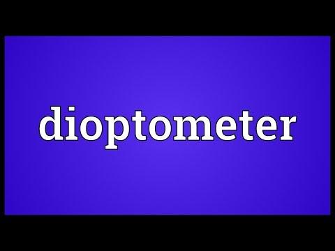 Header of dioptometer