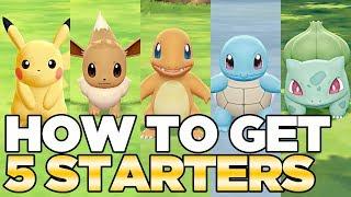 How to Get 5 Starters in Pokemon Let's Go Pikachu & Eevee | Austin John Plays HD CC