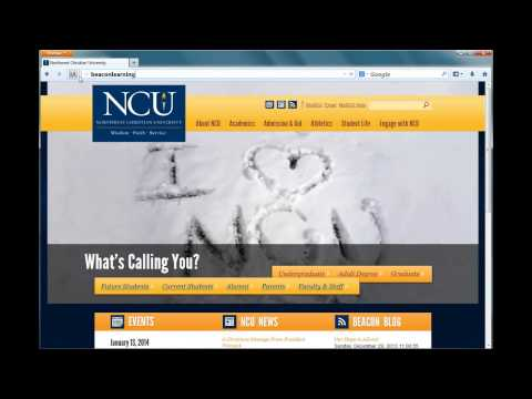Accessing Northwest Christian University Beacon Learning