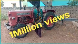 Tractor driving in Telugu by village girl MAHINDRA 275 DI