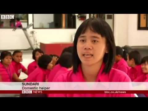 BBC News   100 Women  Indonesia seeks end to maid service
