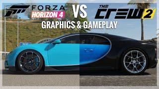 Forza Horizon 4 vs The Crew 2 |Bugatti Chiron Engine Sound, Gameplay & Graphics Comparison