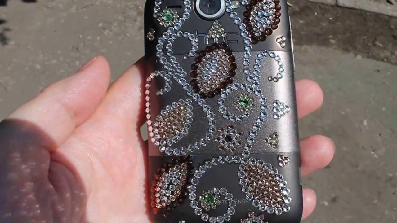 Стразы на телефон своими руками