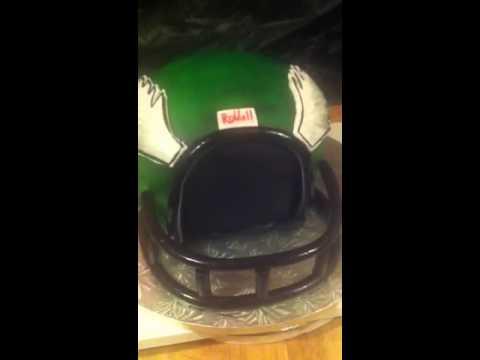 Philadelphia Eagles football helmet cake