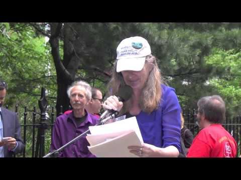 Leonie Haimson @ Taking Back Our Schools Rally & March, New York, NY - 17 May 2014