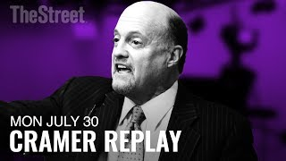 Jim Cramer on Facebook, Advanced Micro Devices, Caterpillar and CBS Corporation