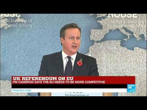 "REPLAY - Watch UK PM David Cameron's address on EU referendum and ""Britain's best future"""