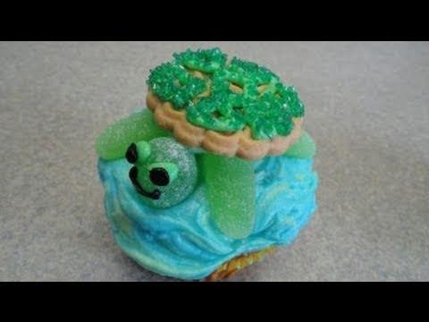 Decorating Cupcakes 38 Sea Turtle Youtube