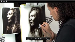 Black & White Airbrush Portrait Techniques w/ Cory Saint Clair
