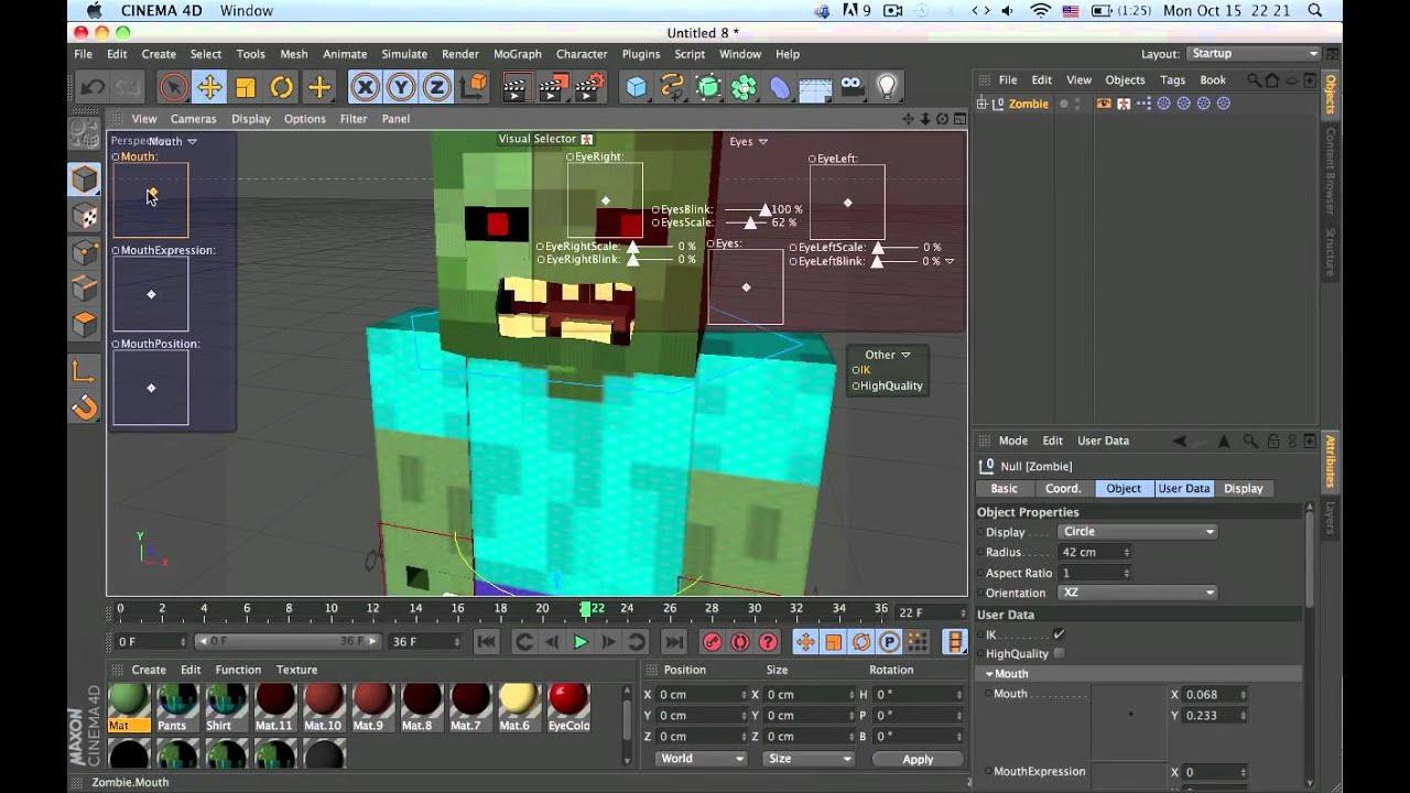 Скачать модели для cinema 4d minecraft