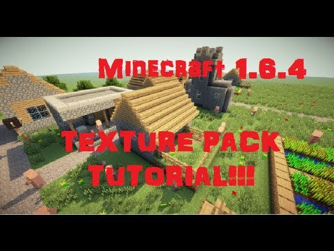 How to install Minecraft Texture Packs 1.6.4 (Windows 8)
