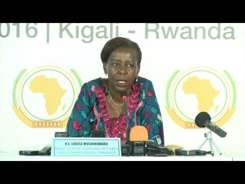 H.E. Louise Mushikiwabo, Minister of Foreign Affairs, Government of Rwanda PRESS CONFERENCE
