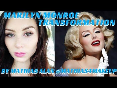 MARILYN MONROE TRANSFORMATION PRO MAKEUP VIDEO TUTORIAL- mathias4makeup