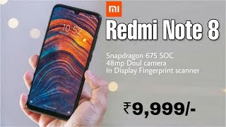 Redmi Note 8: India Launch date, Specifications,price,Redmi Note 8