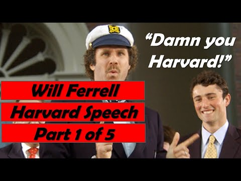 Will Ferrell Harvard Commencement Speech Part 1 of 5 Video