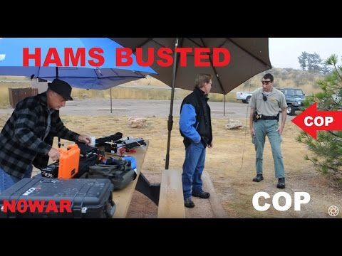 HAM RADIO OPERATORS BUSTED BY THE COPS!!