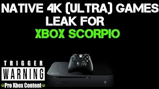 More Leaked Xbox Scorpio Native 4K Games Running At ULTRA PC Settings!!