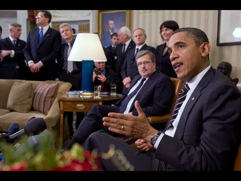 President Obama Meets with Polish President Komorowski