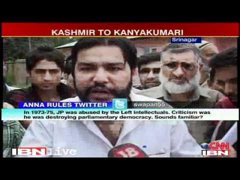 Anna Hazare protest spreads to Kashmiri capital Srinagar