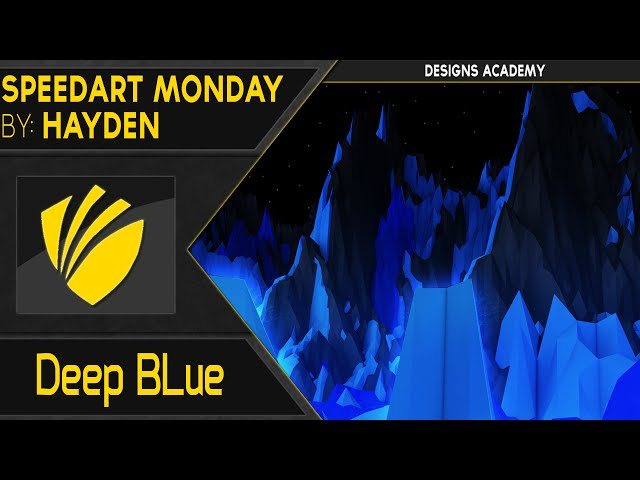 Speedart Monday: Deep Blue low poly scene | By: ZeBs