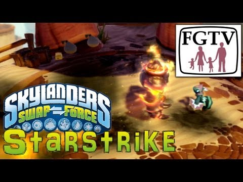 Skylanders Swap Force Starstrike - New Magic Character Gameplay Hands-On