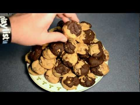 Chocolate Chip Peanut Butter Half Cookies - Cooking With Agent96 E#26