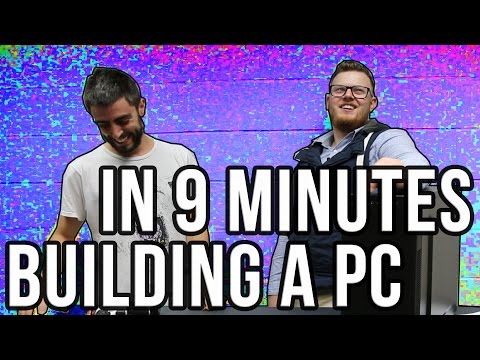 UNBOXING AND BUILDING A COMPUTER IN 9 MINUTES (Fastest PC Build?) DINOPC Speed Build