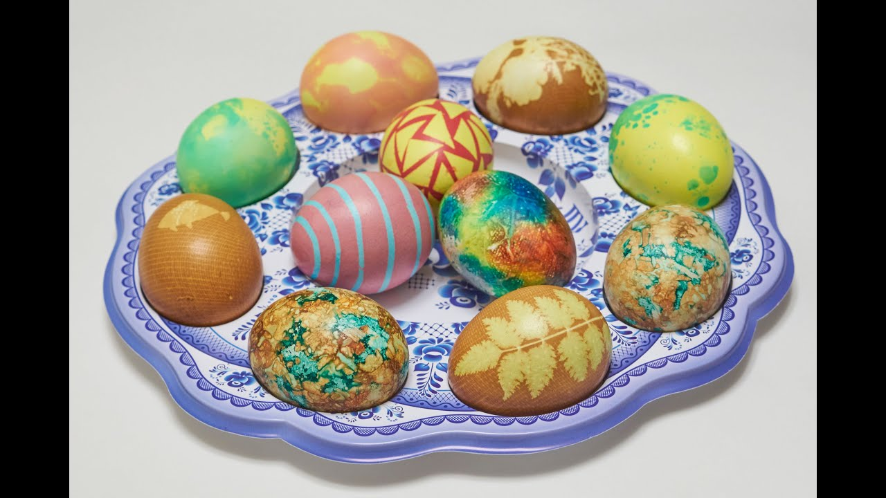 Как пасхальные яйца сделать мраморными
