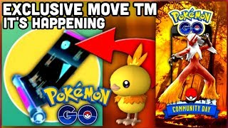 POSSIBLE EXCLUSIVE MOVE TM COMING SOON TO POKEMON GO | Torchic Community Day announced