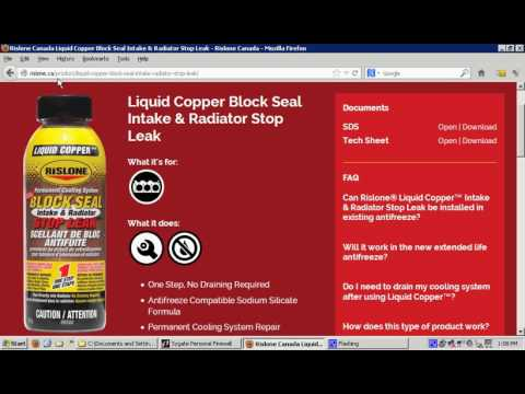 Rislone Liquid Copper Permanent Cooling System Block Seal Intake & Radiator Stop Leak review