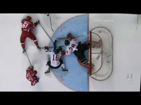 RUSSIA - SWITZERLAND 6:0 █ QUARTER FINAL 2008 █ IIHF WORLDS █ IHWC