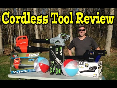EGO 56volt ECHO 58v Kobolt 80v Cordless Leaf Blower- Comparison. Review. Demo Video