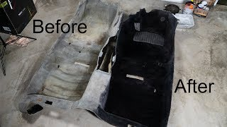 How to Dye Car Carpet and make it look brand new! Celsior LS400 VIP build part 2