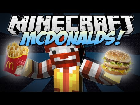 Minecraft | McDONALDS! (Eat McDonalds in Minecraft!) | Mod Showcase [1.6.2]