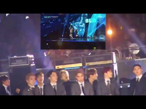 EXO & BTS REACTION TO BLACKPINK WHISTLE - PLAYING WITH FIRE 20161226 SBS GAYO DAEJUN