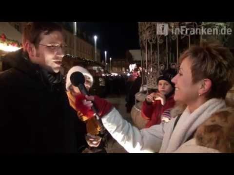 Stimmung auf dem Bamberger Weihnachtsmarkt mit Mäc Härder, Heidi Schütz und Jo Farmer