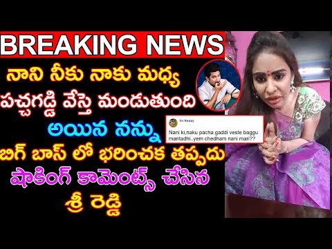 Actress Sri Reddy Shocking Comments On Bigg Boss2 Host Nani | #Biggboss2 | Trending Telugu Updates