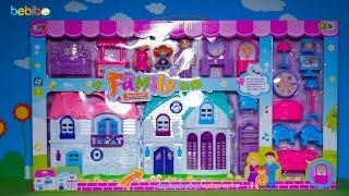 Bộ đồ chơi ngôi nhà búp bê cho bé gái - Mở hộp, giới thiệu và chơi cùng bé