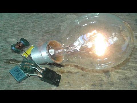 Free Energy Light 230v Bulb Trick 2016; Trick Free Energy