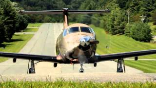 Pilatus PC-12 approach at Elk River Club jetport on August 20, 2010